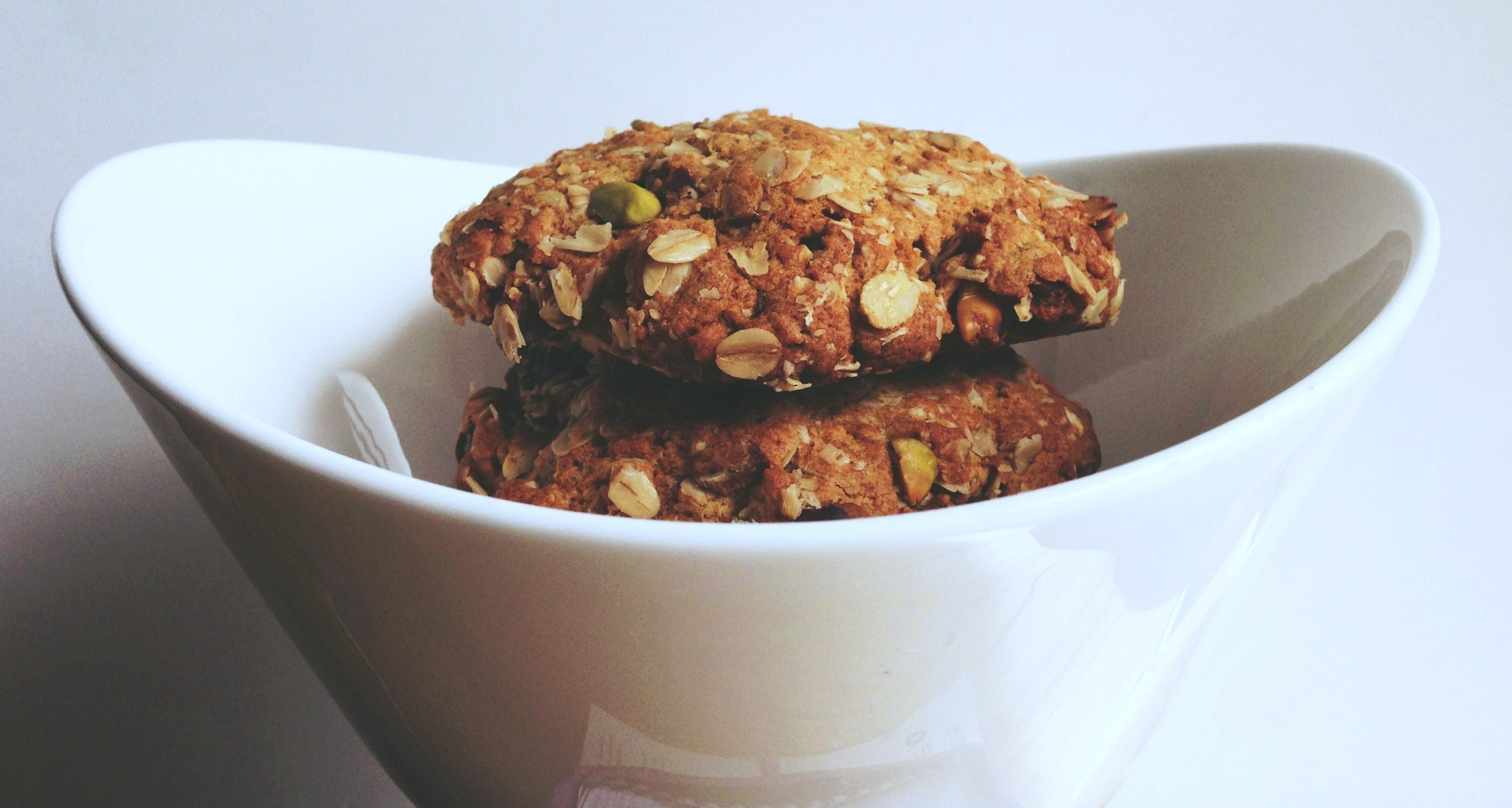 Oatmeal muesli cookies low in fructose
