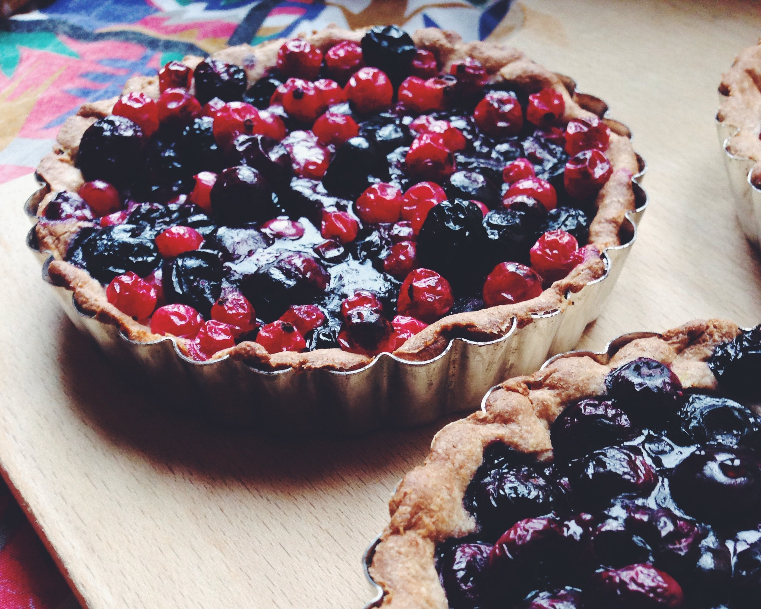 Fructose Free Blueberry Spelt Pie (Sugar Free)