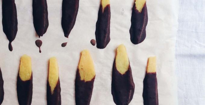 Chocolate covered orange peels (fructosefree)