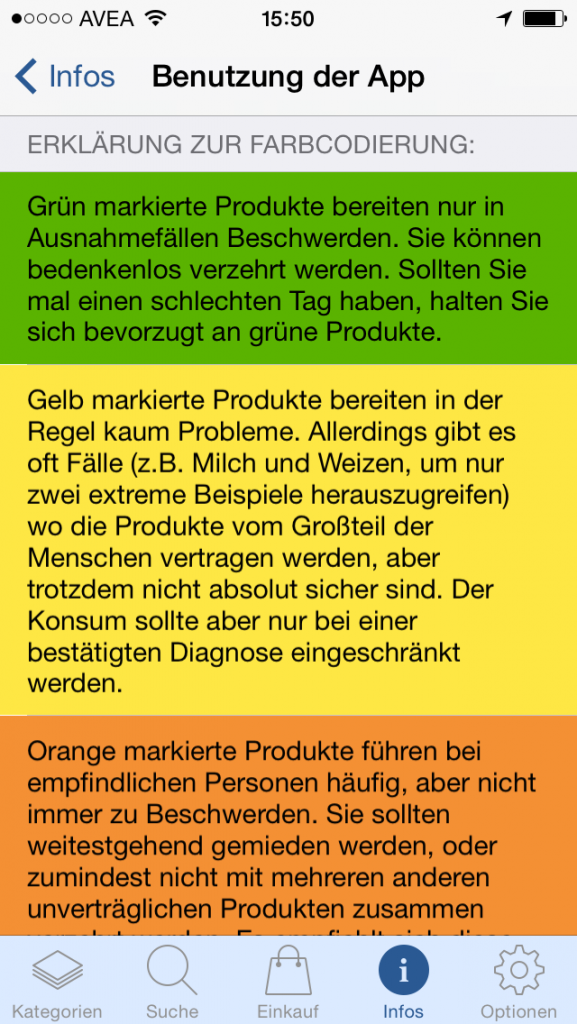 App-Review: Food Intolerances - Histamin, Fructose and more. A handy guide for your phone / Erfahrungsbericht: Histamin, Fructose & Co. - Eine App für den Alltag // fructopia.de
