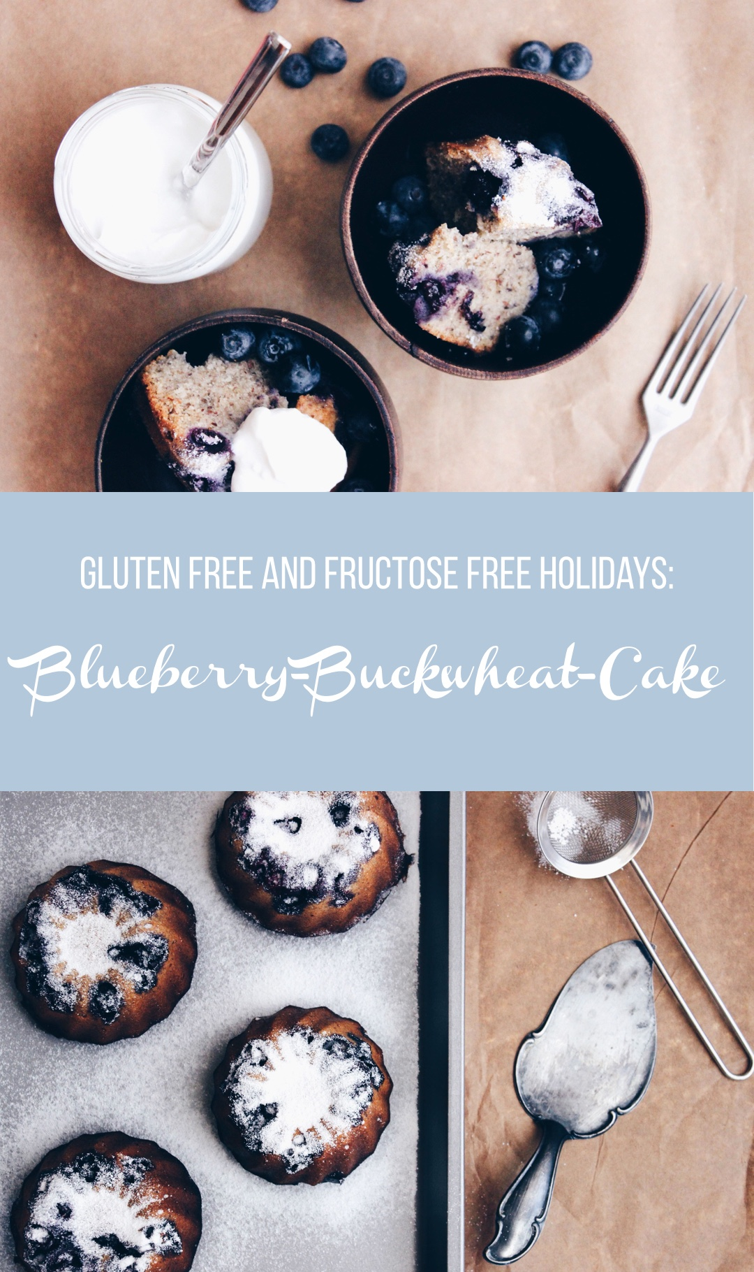 Gluten Free Easter Holidays: Fructosefree Blueberry-Buckwheat-Cake with Lemon Curd // Gluten-freie Ostern: Fructosearmer Heidelbeer-Buchweizen-Kuchen mit Zitronencreme // by fructopia.de #freefrom #foodsensitivities #holidaybaking