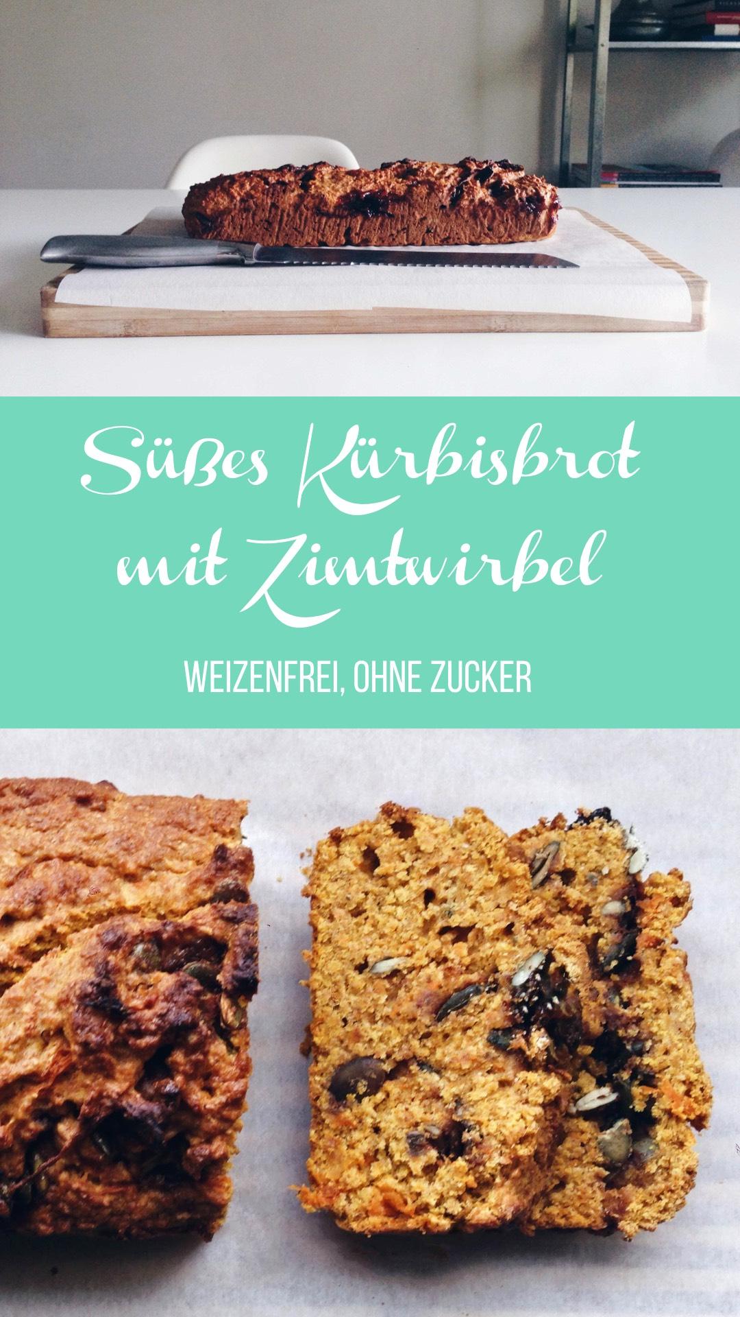 Sugarfree Sweet Pumpkin Spelt Bread with a Cinnamon Swirl // Süßes Kürbis-Dinkelbrot mit Zimtwirbel ohne Zucker // fructopia.de