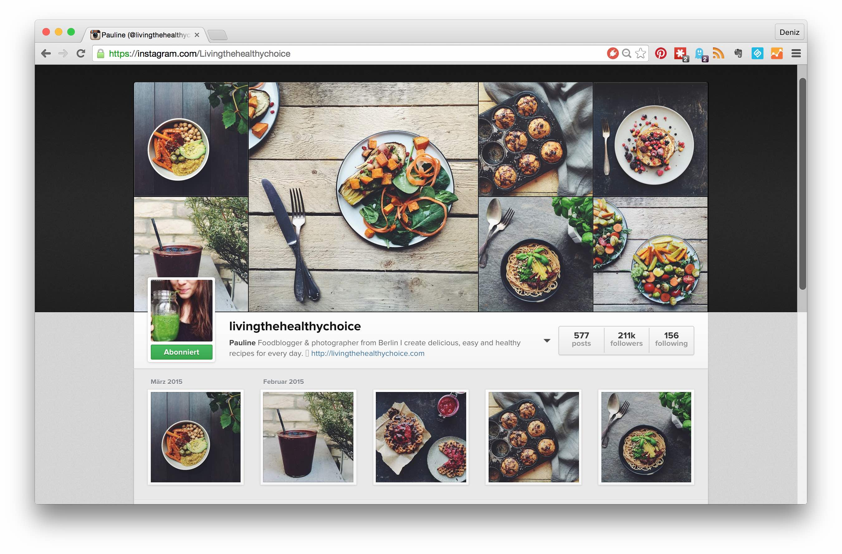 The top 5 sugar free instagram feeds you should follow // Die Top 5 zuckerfreien Instagram-Feeds, denen Du folgen solltest! // by fructopia.de