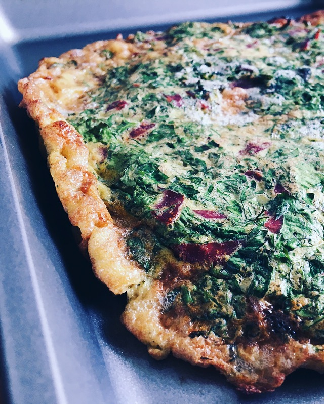 Low FODMAP Persian Herb Fritatta with Pastirma