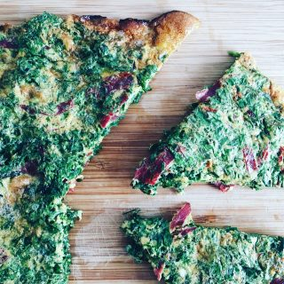Persian Herb Fritatta with Turkish Cured Ham