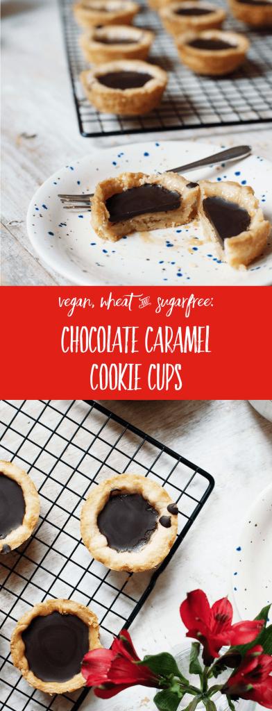 Recipe: Sugar-free Chocolate-Caramel-Cups with Spelt   lactose-free and vegan option // fructopia.de