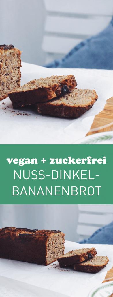 Süß und saftig ganz ohne zusätzlichen Zucker: Veganes Bananenbrot mit Dinkelmehl | fructopia.de