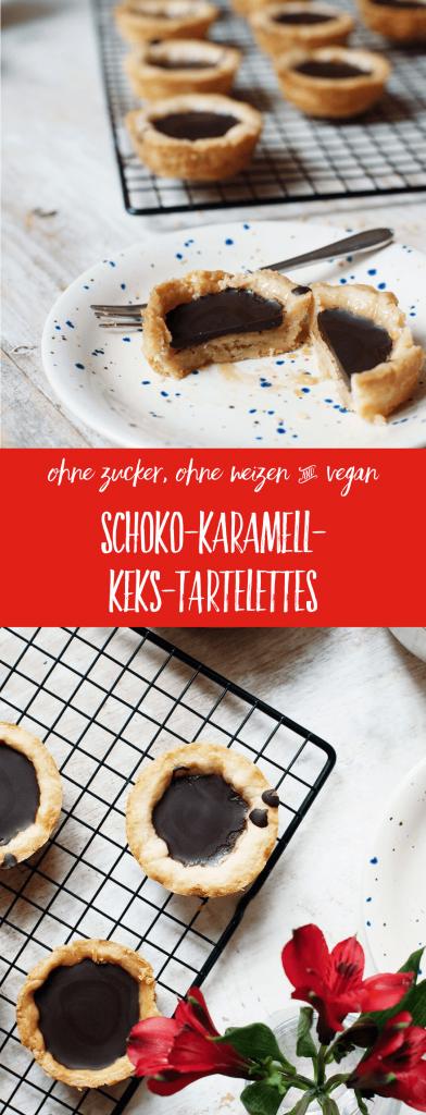 Rezept: Zuckerfreie Schoko-Karamell-Füllung auf buttrigem Dinkelkeks // fructopia.de