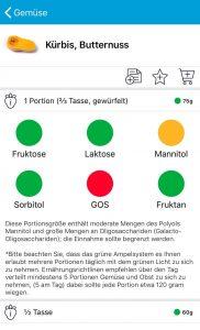 Fructosegehalt und Fruktangehalt von Butternut (Butternuss) Kürbis | Fructopia.de