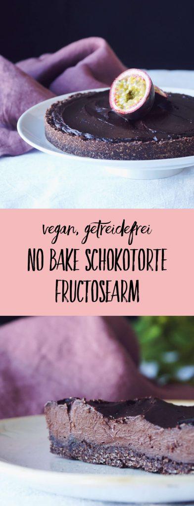 Traumdessert ohne Backen: No Bake Schokotorte für das perfekte Dinner | in 20 Minuten zubereitet, nur 1 Stunde Kühlzeit | ohne Zucker, vegan, getreidefrei, glutenfrei | fructopia.de