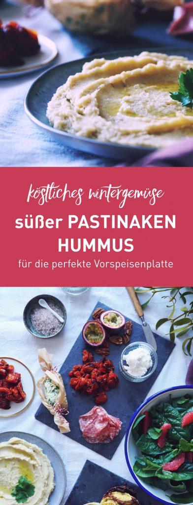Hummus aus lokalem Wintergemüse: Süßes Pastinaken-Hummus, fructosearm, vegan, glutenfrei | Fructopia.de